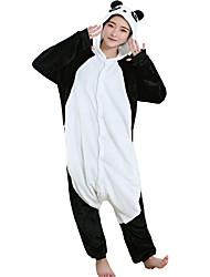 abordables -Adulte Pyjamas Kigurumi Panda Combinaison de Pyjamas Flanelle Toison Noir Cosplay Pour Homme et Femme Pyjamas Animale Dessin animé Halloween Fête / Célébration