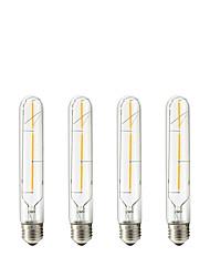 cheap -4pcs 3W 150 lm E27 LED Filament Bulbs Tube 3 leds COB Warm White 6000K AC 220-240V