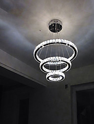 cheap -Circular Chandelier Ambient Light - Crystal, LED, 110-120V / 220-240V, Cold White / Yellow, LED Light Source Included / 10-15㎡