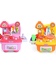 cheap -beiens Toy Kitchen Sets Toy Dishes & Tea Sets Kids' Cooking Appliances Pretend Play Toys Duck Toys LED Lighting Sound ABS Girls' 14 Pieces