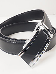 Men's leisure fashion automatic black leather belt buckle belt body is about 3.6 cm wide contracted style suitable for you of the atmosphere