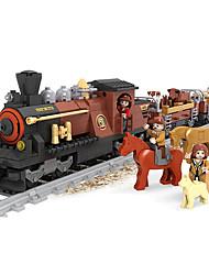Недорогие -AUSINI Конструкторы 531 pcs Шлейф Животные Cool Оригинальные Электрический Поезд Поезда и наборы железной дороги Мальчики Игрушки Подарок