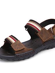 economico -Sandali da uomo primavera estate caduta comfort ufficio bovino esterno&Carriera abito casual luce marrone scarpe acqua