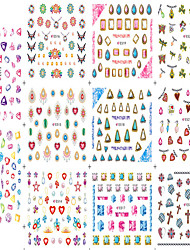 1pcs 11design Nail Art Sticker Colorful&Beautifu Image Charming Diamond Design 3D Nail Decals Makeup Cosmetic Nail Tips E512-522