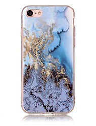 Per iPhone X iPhone 8 Custodie cover IMD Fantasia/disegno Custodia posteriore Custodia Effetto marmo Morbido TPU per Apple iPhone X