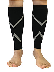 cheap -Men Reinforced Knee Support Breathable Compression Running Sports Outdoor Cotton Yarn Black Running Leg Sleeve Sport Calf Brace