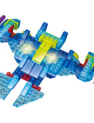 cheap -LED Lighting Building Blocks Toys Toys Plane / Aircraft Fighter Helicopter Robot Spacecraft Lighting LED Lighting Plastic 151 Pieces