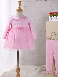 Baby Party/Cocktail Floral Clothing Set,Lace Dresswear Spring Fall