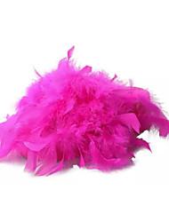 Недорогие -Для женщин Тапочки и Шлепанцы Полиуретан Лето Повседневные Пух На плоской подошве Белый Черный Желтый Пурпурный Розовый На плоской подошве