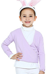 Ballet Outfits Children's Training Cotton Criss-Cross 2 Pieces Long Sleeve Natural Leotard Coat