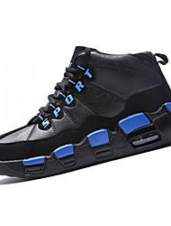 scarpe da ginnastica-Tempo libero-Comoda-Basso-PU (Poliuretano)-Nero e rosso Blu reale Rosso nero