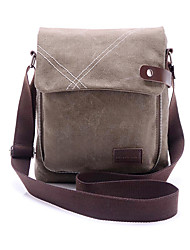 Unisex Bags All Seasons Canvas Shoulder Bag for Casual Sports Outdoor Office & Career Professioanl Use Black Brown
