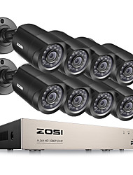 baratos -zosi® de 8 canais DVR HDMI 720p CCTV 8pcs gravador de vídeo do sistema 1280tvl Night Vision Camera kits de vigilância
