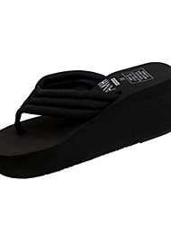 Women's Slippers & Flip-Flops PU Summer Casual Outdoor Gore Flat Heel White Black Blue Blushing Pink Flat