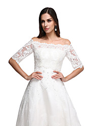 cheap -Lace Wedding Party Evening Women's Wrap With Lace Vests