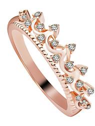 preiswerte -Ringe Hochzeit Party Besondere Anlässe Halloween Alltag Normal Schmuck Zirkon Kupfer Ring 1 Stück,6 7 8 Goldfarben