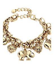 preiswerte -Herz Ketten- & Glieder-Armbänder - Modisch Gold Silber Armbänder Für Geschenk