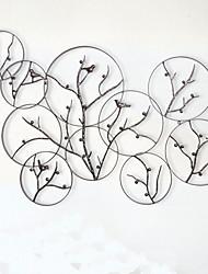 Недорогие -Декор стены Железо Металл Традиционный Ретро Предметы искусства, Металлические украшения на стену Гобелены из 1