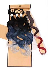 preiswerte -Jumbo-Zöpfe Haarzöpfe Sonstiges 100 % Kanekalon-Haar Grau Rosa Lila Blau Grün Geflochtenes Haar Haarverlängerungen
