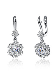 cheap -Women's Sterling Silver / Zircon Drop Earrings - Unique Design / Dangling Style Silver Earrings For Christmas Gifts / Birthday / Business