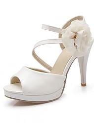 abordables -Femme Chaussures Synthétique Similicuir Polyuréthane Printemps Eté Automne Confort Nouveauté Sandales Marche Talon Aiguille Bout ouvert