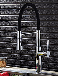 cheap -Kitchen faucet - Contemporary Art Deco / Retro Modern Chrome Pull-out / ­Pull-down Vessel