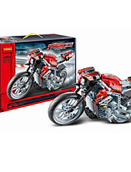 cheap -Building Blocks For Gift  Building Blocks Leisure Hobby Motorcycle Plastic 2 to 4 Years 5 to 7 Years 8 to 13 Years 14 Years & Up Red Toys
