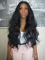 New Style Unprocessed 8-26 Inch 130% Density Virgin Brazilian Natural Color Wave Lace Front Wig Human Hair Lace Front Wigs