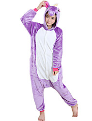 cheap -Kigurumi Pajamas Horse Unicorn Onesie Pajamas Costume Flannel Toison Light Purple Cosplay For Adults' Animal Sleepwear Cartoon Halloween