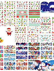 cheap -1set 48pcs/48design Fashion Water Transfer Sticker Daily