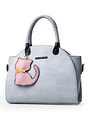 Women Bags All Seasons PU Tote for Event/Party Casual Formal Outdoor Office & Career White Black Pale Pink LightBlue