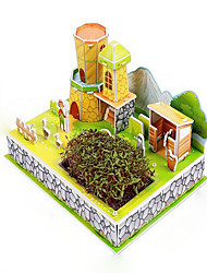 cheap -3D Puzzles Educational Toy House Novelty Paper Christmas Birthday Children's Day Gift