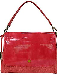 Women Bags All Seasons PVC Shoulder Bag for Casual Red Yellow