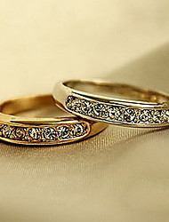 cheap -Small and Exquisite Ladies Zircon Alloy Ring Wedding Party Casual Jewelry Alloy Zircon Couple Rings Ring 1pc6 Gold