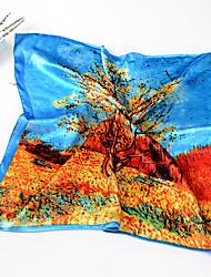 cheap -Women Silk Scarf,Cute Work Casual Square,Red Blue Pink,Print
