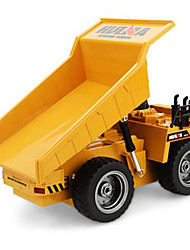 cheap -RC Car HUINA 1540 6 Channel 2.4G Truck Construction Truck Dump Truck 1:12 KM/H Remote Control Rechargeable Electric