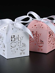 50pcs Baby Girl Candy Box  Baby Shower Kids Favors Birthday Party Gifts Box Party Favors