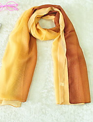 New Korean Version Of Four Seasons Wild Anti-Silk Chiffon Scarves Gradient Color Long Scarves Thin Scarves Sun Shawl