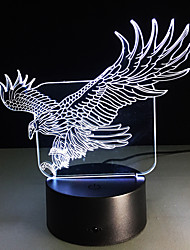 cheap -3D Illusion Bulding Night Light Ton Led Lamp Colors Change Art Sculpture Table Light Produces Unique Dog Ostrich Dragonfly Eagle