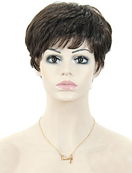 cheap -European Style Black Lady Short Curls High Temperature Wire Wig 3inch