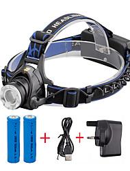 U'King Stirnlampen LED 2000 Lumen 3 Modus Cree XM-L T6 ja einstellbarer Fokus Kompakte Größe Zoomable- Einfach zu tragen für Camping /