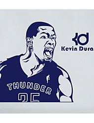 Kevin Wayne Durant Wall Stickers Basketball Player Famous Star Figure Wall Decals For Kids