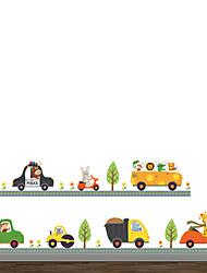 Недорогие -Животные Мода Транспорт Наклейки Простые наклейки Декоративные наклейки на стены, Винил Украшение дома Наклейка на стену Стена Стекло /