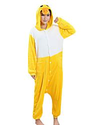 economico -Pigiama Kigurumi Anatra Pigiama intero Pigiami Costume Visone velluto Giallo Cosplay Per Per adulto Pigiama a fantasia animaletto cartone
