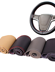 cheap -AUTOYOUTH Micro Fiber Leather Car Steering Wheel Cover Universal Fit DIY Cover Stitching Style Car-Styling Interior Accessory
