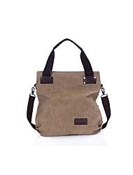 Unisex Bags All Seasons Canvas Shoulder Bag for Casual Sports Outdoor Office & Career Professioanl Use Black Gray Brown Khaki Dark Fuchsia