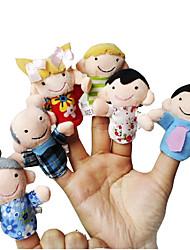 Недорогие -Пальцевая кукла Модели и конструкторы Игрушки Оригинальные Текстиль Хлопок Радужный
