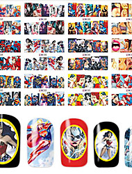 1pcs 12Design Charming Heroic Spiderman&Brave Warrior Beautiful Lady Image Nail Water Transfer Decals Nail Art Full Wrap Sticker BN337-348