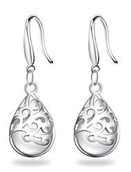 Mulheres Brincos Compridos Brincos dangle Original Elegant Casamento bijuterias Prata de Lei Caído Jóias Para Casamento Festa Aniversário