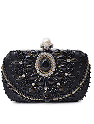 cheap -Women Bags Polyester Evening Bag Beading Crystal/ Rhinestone for Wedding Event/Party Casual Formal Office & Career Winter Spring Summer